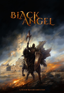 Martina Pilcerova art - Black Angel rides into battle
