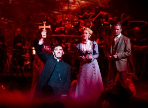 The War of The Worlds - Jimmy Nail as Parson Nathaniel, Heidi Range as Beth, Michael Praed as George Herbert The Journalist - credit Tristram Kenton (2)