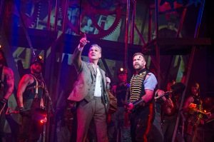 The War of The Worlds- Michael Praed as George Herbert and Daniel Bedingfield as The Artilleryman - Dominion Theatre until 30 April - credit Tristra (4)